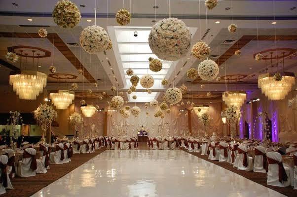 Attractive Interior Decorations of Wedding Venues