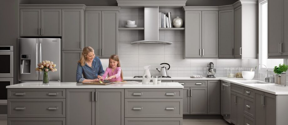 Grey Kitchen Cabinets are Looking Up